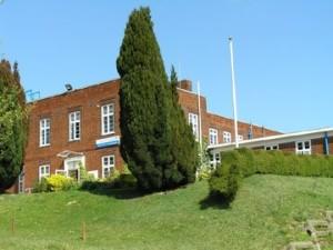 hospital with tree
